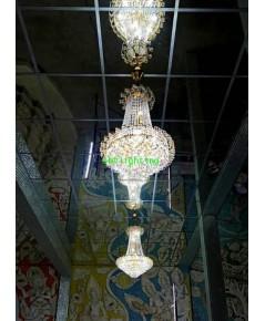 งานติดตั้งโคมไฟคริสตัล ในวิหารพระเจ้าห้าพระองค์  วัดสาขลา    ตุลาคม  ปี 62