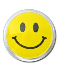 ป้ายชื่อยิ้ม ทรงกลม อะคริลิค Size L บรรจุ 10 ชิ้น ต่อกล่อง