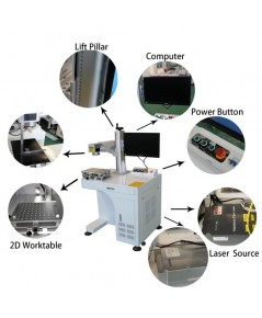 F50/100 desktop type Fiber laser marking machine for metal plastic