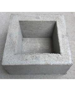 บล็อคช่องลมสี่เหลี่ยมจัตุรัส 19 x19 x9 cm.