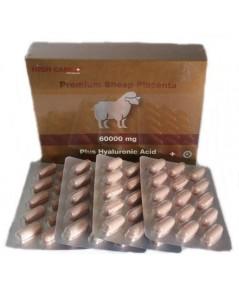 ( 2 กล่อง) รกแกะ 60000 mg.High Care Premium Sheep Placenta 60000 Plus Hyaluronic Acid บรรจุ 120 เม็ด