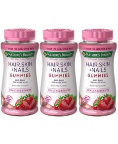 Nature\'s Bounty Hair, Skin  Nails Gummies with Biotin 2500 mcg. 80 เม็ด