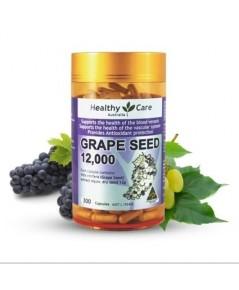 Healthy Care Grape Seed Extract 12000mg 300 Capsules เมล็ดองุ่นสกัดเข้มข้น จากออสเตรเลีย