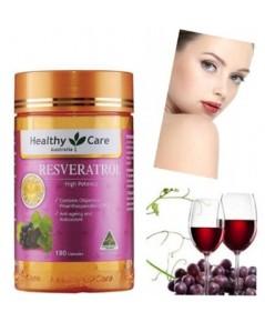Healthy Care Resveratrol (เรสเวอราทอล) วิตามินหน้าเด็ก ชะลอความแก่ จากออสเตรเลีย ขนาด 180 เม็ด
