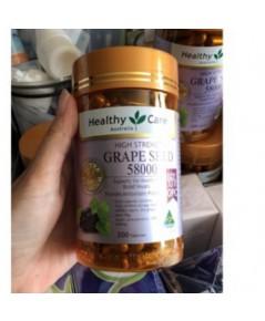 (แบ่งขาย 30 เม็ด) สารสกัดเมล็ดองุ่นHealthy Care 58000 mg. opc สูง 460 mg.ทานเพื่อผิวกระจ่างใส