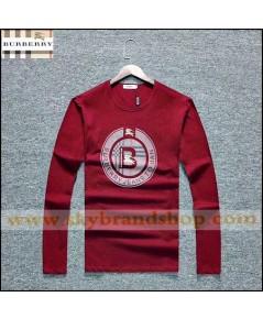 เสื้อยืดคอกลม T-Shirt Burberry Long Sleeve Business Original Contton Straight Size M-2XL คลิก.