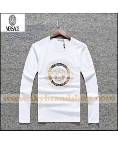 เสื้อยืดคอกลม Versace Italy Sleeve T-Shirt Long Sleeve Original Contton Straight Size M-2XL คลิก..