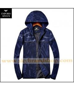 เสื้อแจ็คเก็ต Giorgio Armani Jeans Jacket Slim Spring Dress Thin Stand Collar Size M-3XL คลิก..
