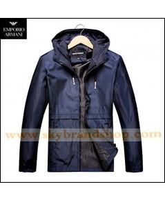 เสื้อแจ็คเก็ต Giorgio Armani Jeans Jacket Slim Spring Dress Thin Stand Collar Size M-6XL คลิก..