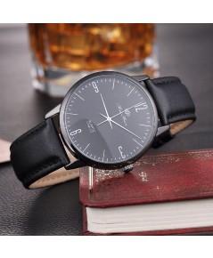 นาฬิกา ข้อมือ สไตล์ Minimalist สไตล์ญี่ปุ่น จากสนามบินฮ่องกง เชคแลปก๊อก (สีดำ)