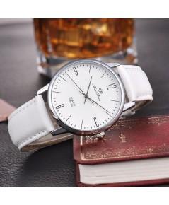 นาฬิกา ข้อมือ สไตล์ Minimalist สไตล์ญี่ปุ่น  จากสนามบินฮ่องกง เชคแลปก๊อก  (สีขาว)