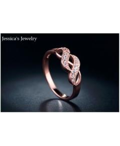 เจสสิก้า จิวเวลรี่ วันนี้ ขอภูมิใจเสนอ แหวนเพชรสวิส CZ ตัวเรือนเงินแท้ชุบทอง 18K (Pink Gold)