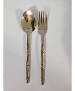 Brass spoon  fork and chopstick set (Thai Craft Kitchen ware)