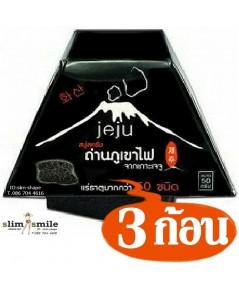 สบู่ เจจู JEJU สบู่ถ่านภูเขาไฟ Jeju Soap ฟอกๆๆ จนแตกตัวออกเป็นเนื้อสครับ 3 ก้อนๆละ 55 เป็นเงิน 165 บ