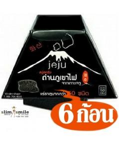 สบู่ เจจู JEJU สบู่ถ่านภูเขาไฟ Jeju Soap ฟอกๆๆ จนแตกตัวออกเป็นเนื้อสครับ 6 ก้อนๆละ 50 เป็นเงิน 300 บ