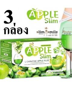 Apple Slim แอปเปิ้ล สลิม APPLE SLIM L-CARNITINE APPLE PLUS 3 กล่องเพียง 420 บาท
