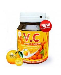 V.C vitamin C 1400 mg. วี.ซี วิตามินซี แค่วันละ 2 เม็ด รู้สึกได้ในกระปุกแรกที่ทาน