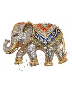 ช้างทรงเครื่องกลาง (สีกากเพชร)