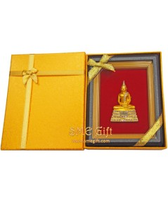 กรอบรูปพระพุทธโสธร + กล่องสีเหลือง