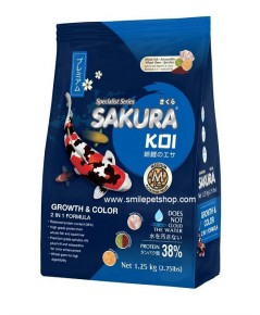 SAKURA KOI GrowthColor 1.25 kg. เม็ด M