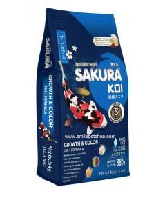 SAKURA KOI Growth&Color 6.5 kg. เม็ด S
