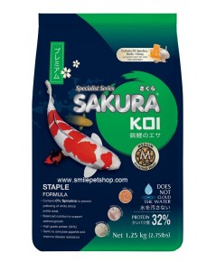 SAKURA KOI Staple 1.25 kg. เม็ด M