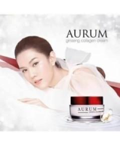 Aurum Ginseng Collagen Cream 50 g. ออรัม ครีมอั้ม พัชราภา ราคาส่งถูกๆ w.220 รหัส TM186