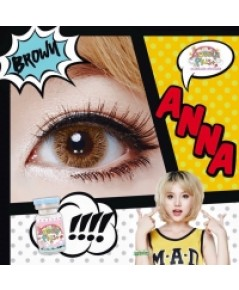 คอนแทคเลนส์ บิ๊กอาย Sweety Plus Anna Brown ค่าสายตาปกติ W.38 รหัส BE80