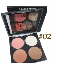 Cheek  Contour Palette Sivanna (No.02) ราคาส่งถูกๆ W.85 รหัส BO238