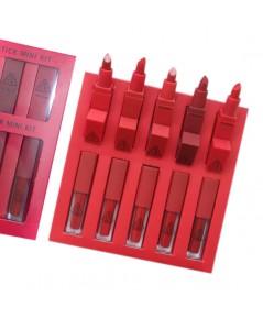 3CE MOOD RECIPE LIP COLOR MINI KIT โทนสีแดง ราคาส่งถูกๆ W.180 รหัส L308