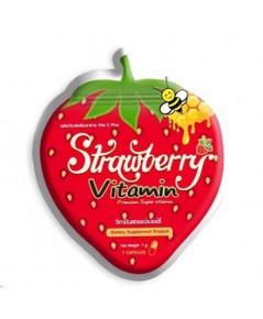 วิตามินสตอเบอรี่หน้าใส Strawberry Vitamin ราคาส่งถูกๆ W.65 รหัส GU125