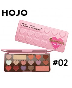 HOJO อายแชโดว์พาเรทรูปหัวใจ Chocolate Pink Love eye shadow No.2 ราคาส่งถูกๆ w.215 รหัส ES82