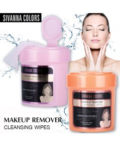 sivanna colors Makeup Remover Cleansing Wipes กระปุกสีส้ม 100 sheets ราคาส่งถูกๆ W.210 รหัส FC11