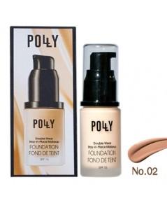 รองพื้น Polly รองพื้นกันแดด กันน้ำ No.02 ราคาส่งถูกๆ W.100รหัส F288