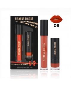 SIVANNA COLORS NOIR MATTES COLLECTION HF393 No.08 ราคาส่งถูกๆ W.80 รหัส L621