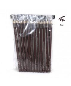 ดินสอเขียนคิ้ว Aac แพ็ค 12 แท่ง No.02 ราคาส่งถูกๆ W.80 รหัส K204-1