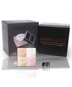 SIVANNA COLORS MAT-FINISH  ENHANCED RADIANCE LOOSE POWDER 4IN1  No.01 ราคาส่งถูกๆ W.105 รหัส518