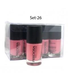 Preciosa Nal Color ยาทาเล็บเจล แบบไม่ต้องง้อเครื่องอบ Set 26 (ยกเซ็ต 12 ชิ้น) W.650 รหัส N90-26