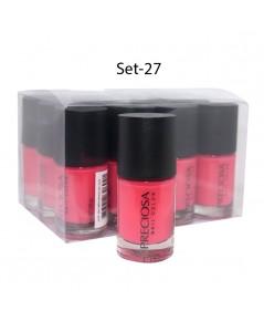 Preciosa Nal Color ยาทาเล็บเจล แบบไม่ต้องง้อเครื่องอบ Set 27 (ยกเซ็ต 12 ชิ้น) W.650 รหัส N90-27