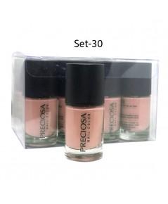 Preciosa Nal Color ยาทาเล็บเจล แบบไม่ต้องง้อเครื่องอบ Set 30 (ยกเซ็ต 12 ชิ้น) W.650 รหัส N90-30