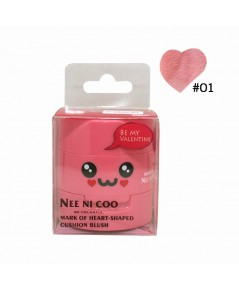 NEE NI COO MARK OF HEART-SHAPED CUSHION BLUSH No.01 ราคาส่งถูกๆ W.75 รหัส BO399-1