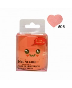NEE NI COO MARK OF HEART-SHAPED CUSHION BLUSH No.03 ราคาส่งถูกๆ W.75 รหัส BO399-3