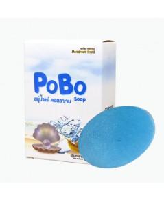 PoBo Soap สบู่น้ำแร่ คอลลาเจน เมือกหอยทาก สบู่ทำความสะอาดผิวหน้า สูตรอ่อนโยน W.75 รหัส FC17