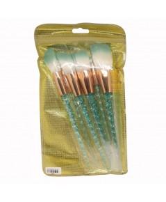 ชุดแปรง 6 ชิ้น ด้ามสีกากเพชรสีเขียว ราคาส่งถูกๆ W.100 รหัส EM9