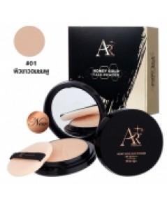 แป้งพัฟออร่าริช Aura Rich Honey Gold Face Powder SPF35 PA+++ No.01 W.100 รหัส MP91 ส่งฟรี