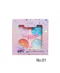 CDE Four-color sequin eyeshadow cream NO.01 ราคาส่งถูกๆ W.80 รหัส ES457-1