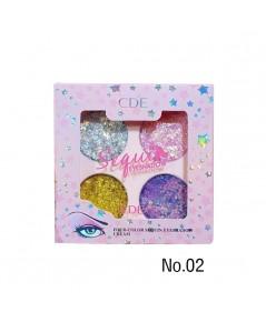 CDE Four-color sequin eyeshadow cream NO.02 ราคาส่งถูกๆ W.80 รหัส ES457-2