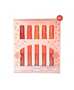 SIVANNA COLORS MINI MATTE LIP  GLOSS COLLECTION HF3007 No.01 ราคาส่งถูกๆ W.225 รหัส L317-1