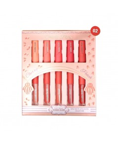 SIVANNA COLORS MINI MATTE LIP  GLOSS COLLECTION HF3007 No.02 ราคาส่งถูกๆ W.225 รหัส L317-2