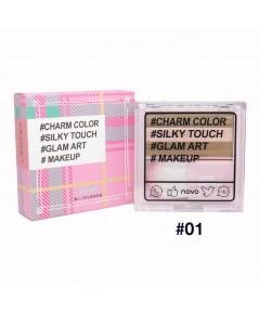 novo Lazy Tri-Color cosmetic Disk NO.01 ราคาส่งถูกๆ W.75 รหัส ES52-1
